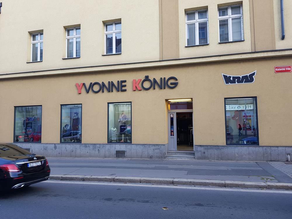 Prodejna Yvonne König v Plzni